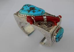 leroy begay custom bracelet sterling silver fabrication
